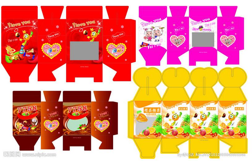 糖果包装设计 糖果包装纸 糖果礼品包装设计
